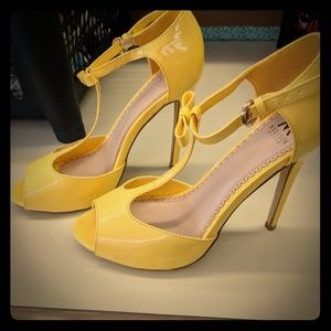 Yellow T-Strap Mary Janes